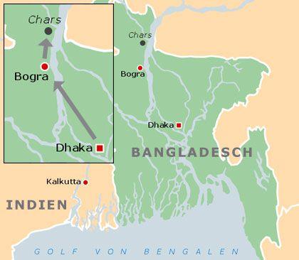 Reportagereise;: Der dritte Abschnitt führte in den Norden Bangladeschs