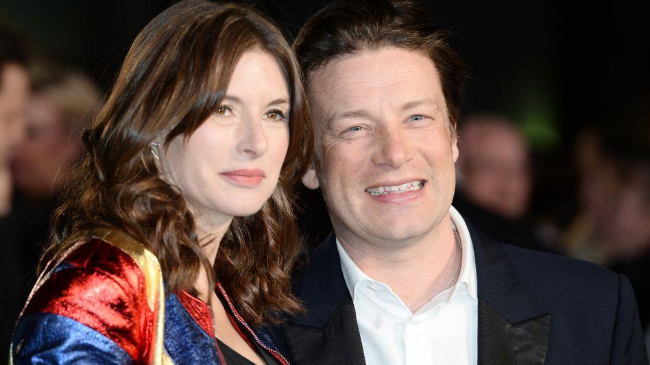 Jamie Oliver mit seiner Frau Jools