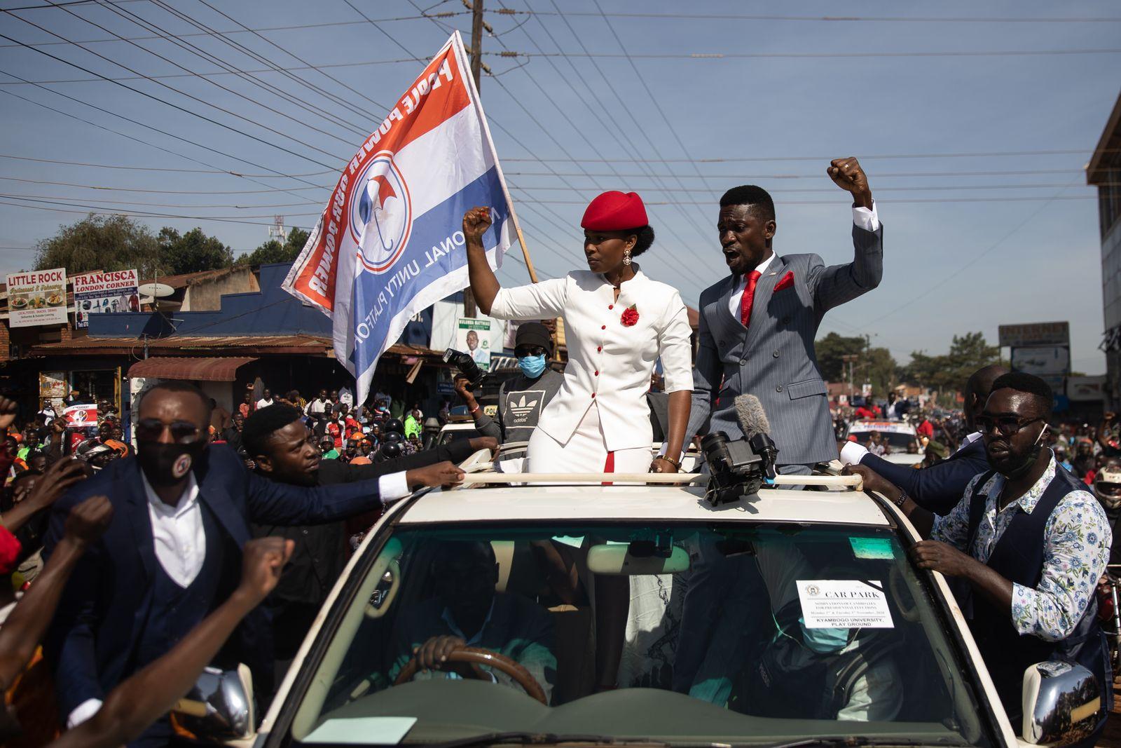 *** BESTPIX *** Bobi Wine Is Nominated For Uganda's Presidential Election