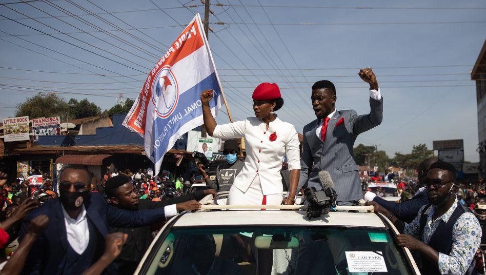Wahlkämpfer Bobi Wine in der Hauptstadt Kampala