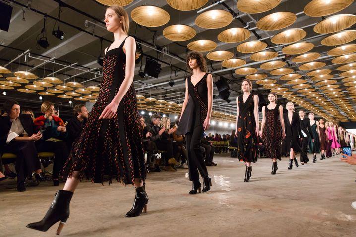 Models bei einer Hugo-Boss-Schau in New York
