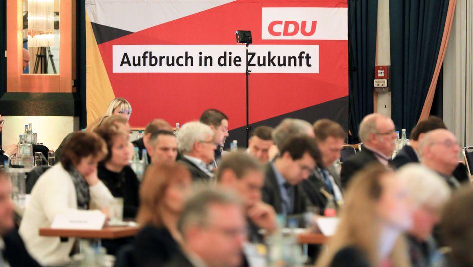 CDU-Delegierte bei Landesparteitag in Sachsen-Anhalt im Dezember 2019 in Magdeburg