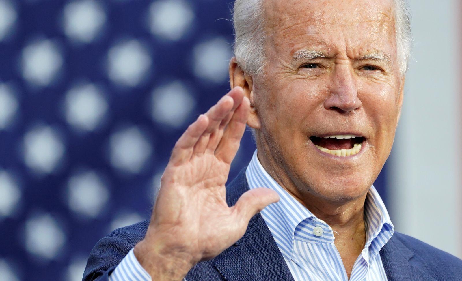 U.S. Democratic presidential candidate Joe Biden campaigns in Erie, Pennsylvania