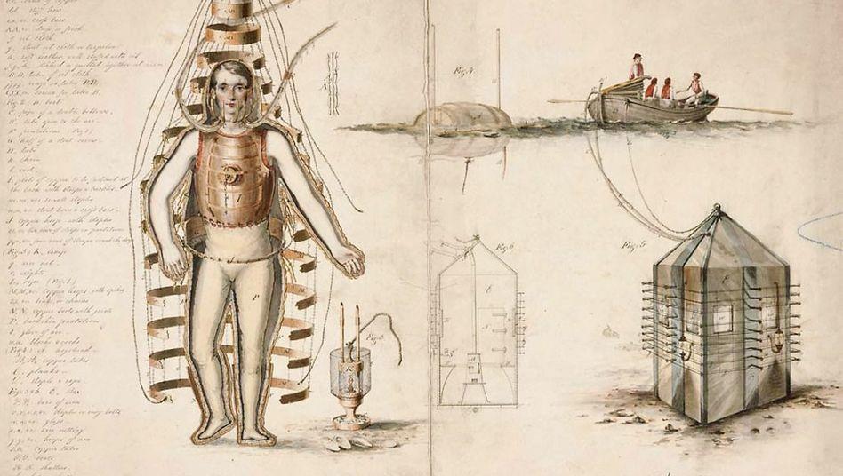 Patentzeichnung »Taucheranzug« (1810)
