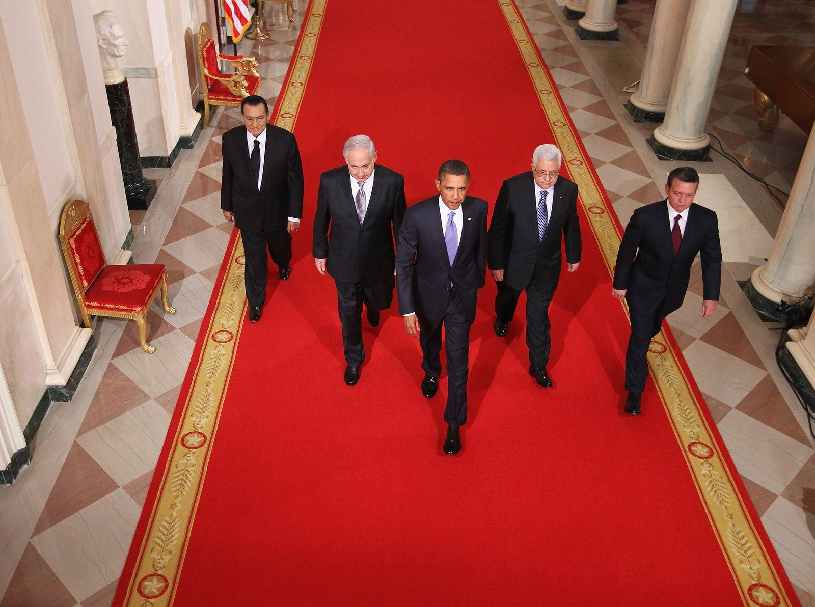 Friedensprozess / Mubarak / Nethanyahu / Abdullah / Abbas