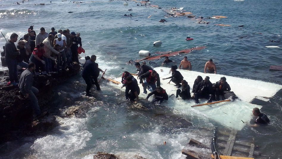 Migrants arrive at Rhodes island in Greece after narrowly escaping catastrophe on Monday. The bodies of several victims were recovered during the rescue operation.