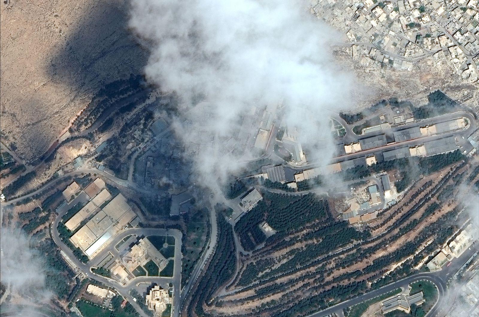 syrien labor bomben