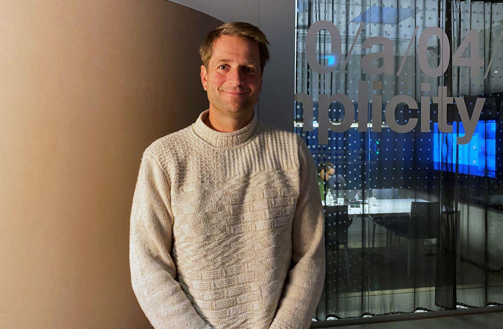 Klarna CEO Sebastian Siemiatkowski poses for a picture in company's office in Stockholm