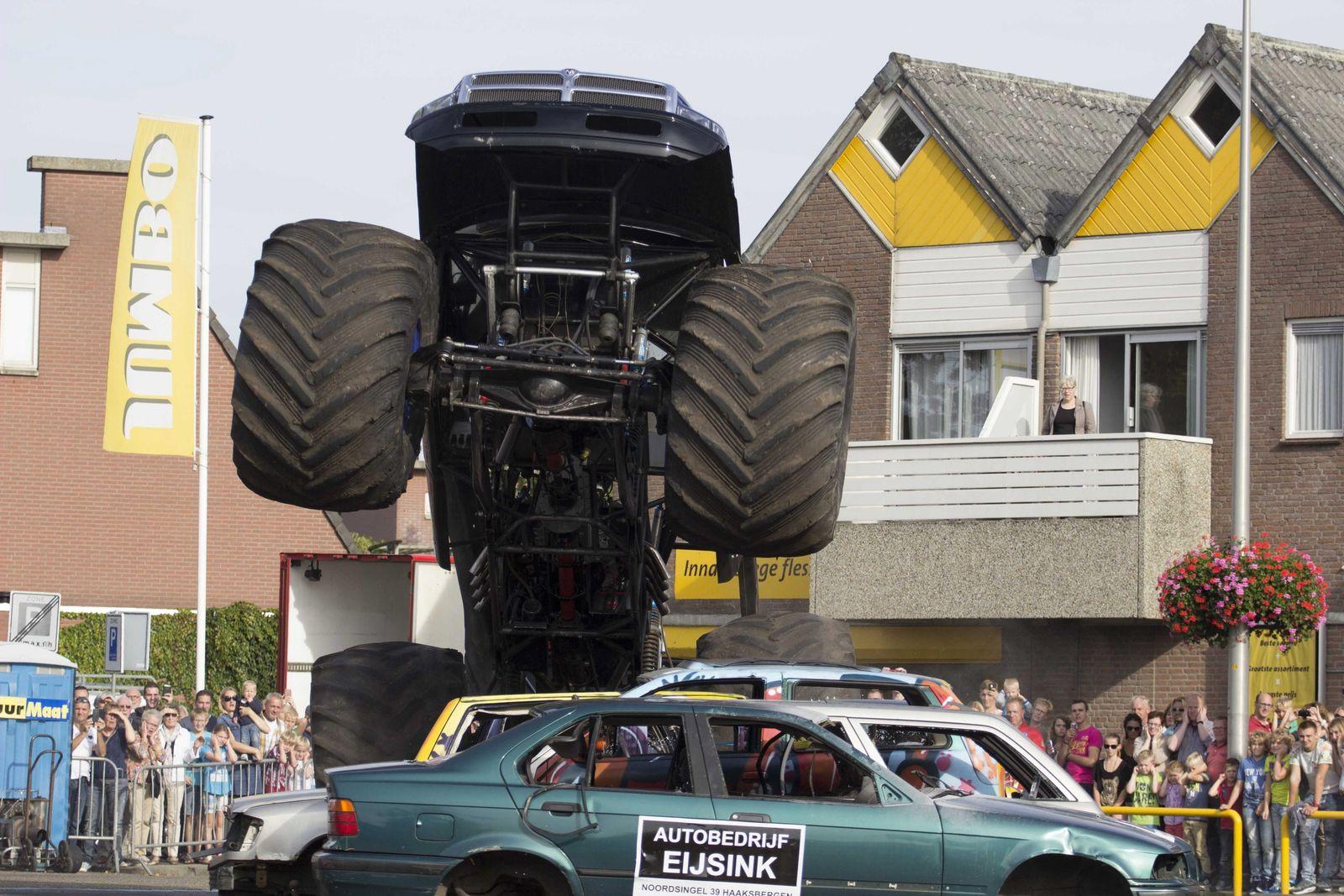 Monster truck accident