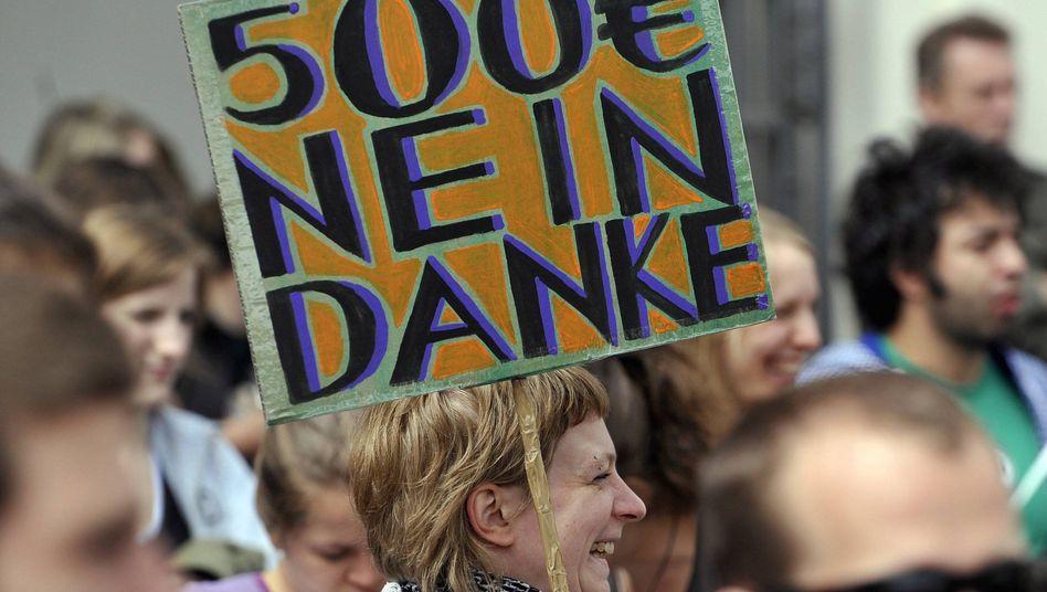 Demo gegen Studiengebühren (in München): 500 Euro im Semester hört sich nicht viel an