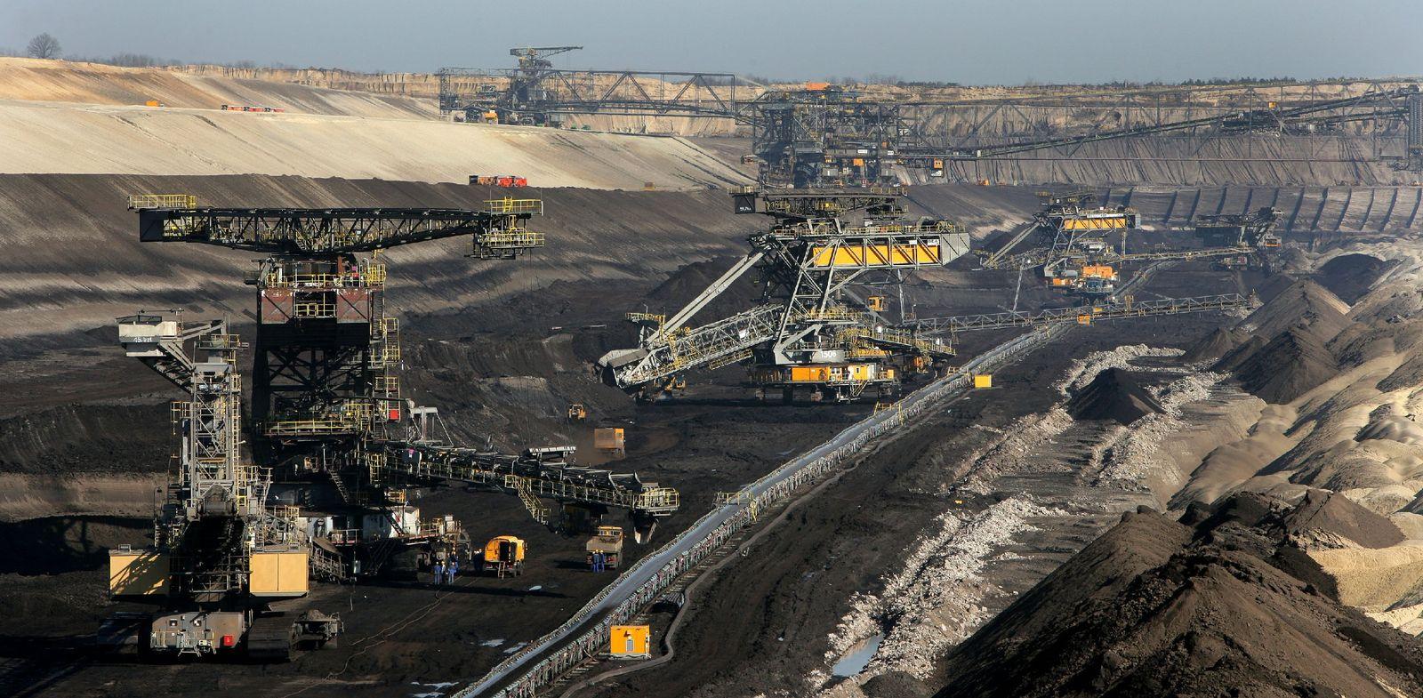 Braunkohleförderung in der Lausitz