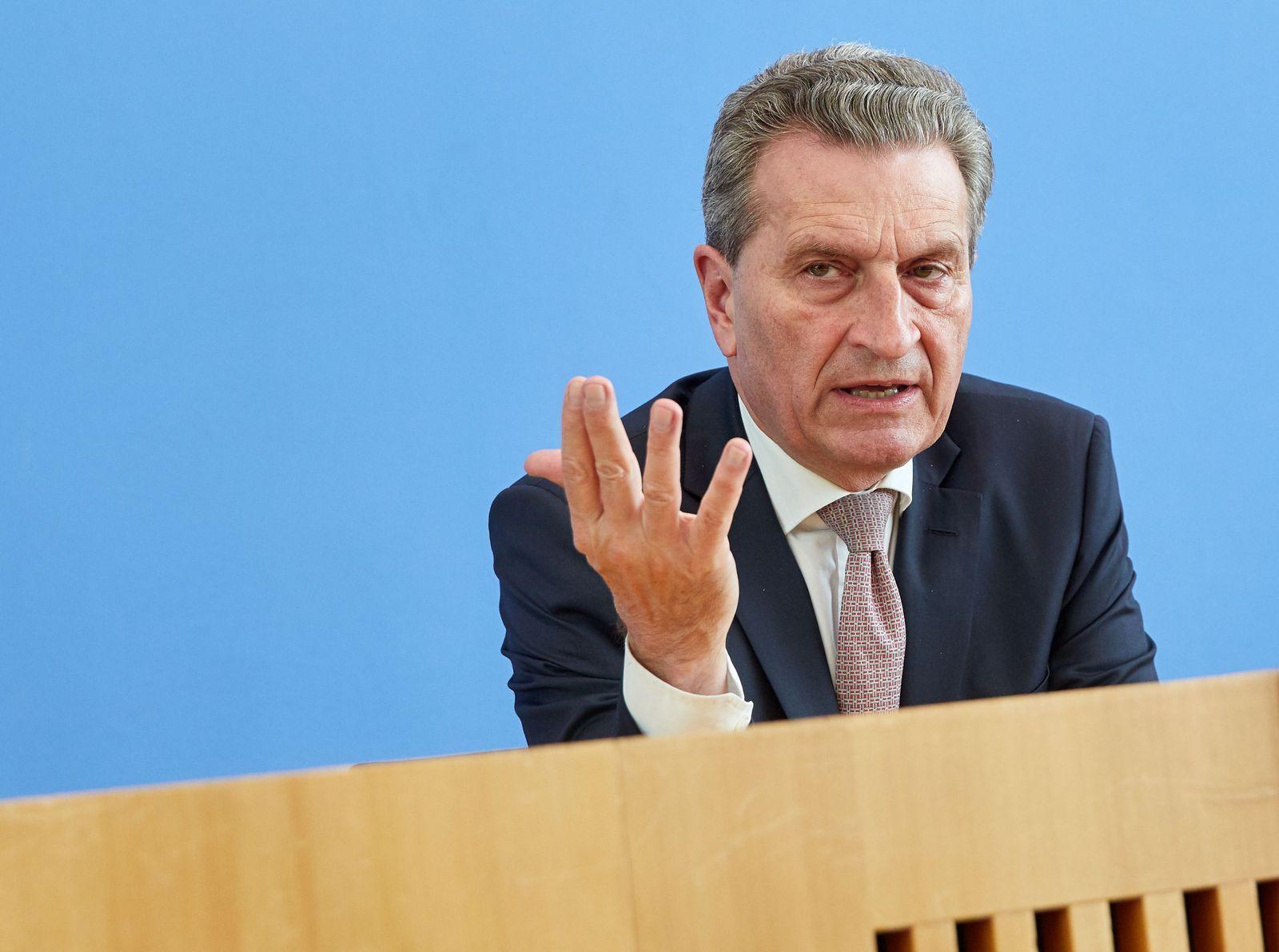 Oettinger/ Eu Finanzen