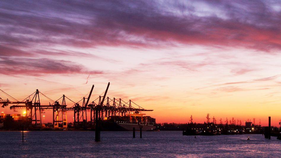 Hamburger Hafen: Auch Deutschland droht ein Rückgang des Wachstums