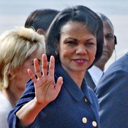 US-Außenministerin Rice bei der Ankunft in Neu-Delhi: Schwierige Mission