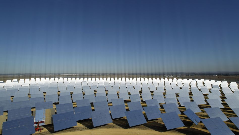 The Desertec project envisions a significant portion of Europe's energy coming from solar thermal plants like this one.