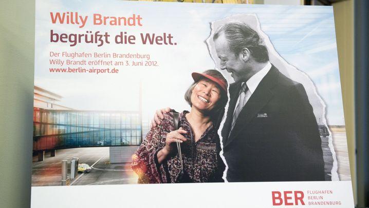 Flughafen Berlin Brandenburg: Willy Brandt macht Werbung