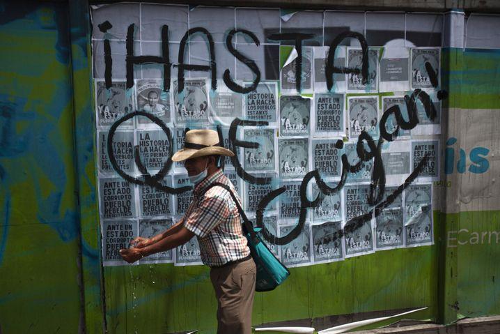 Wut auf die Misswirtschaft: In Ländern wie Guatemala gehen die Bürger gegen die Korruption auf die Straße