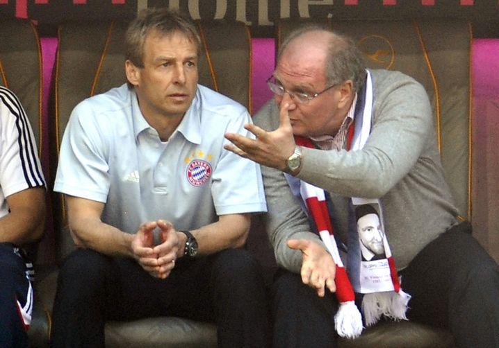 Jürgen Klinsmann (l.) und Uli Hoeneß (r.): Das konnte nicht lange gutgehen