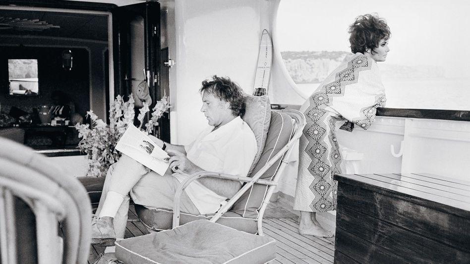 Ehepaar Burton, Taylor auf der Yacht »Kalizma« 1967