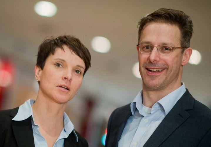 Ex-AfD-Chefin Frauke Petry und Lebensgefährte Markus Pretzell beim AfD-Bundesparteitag 2015