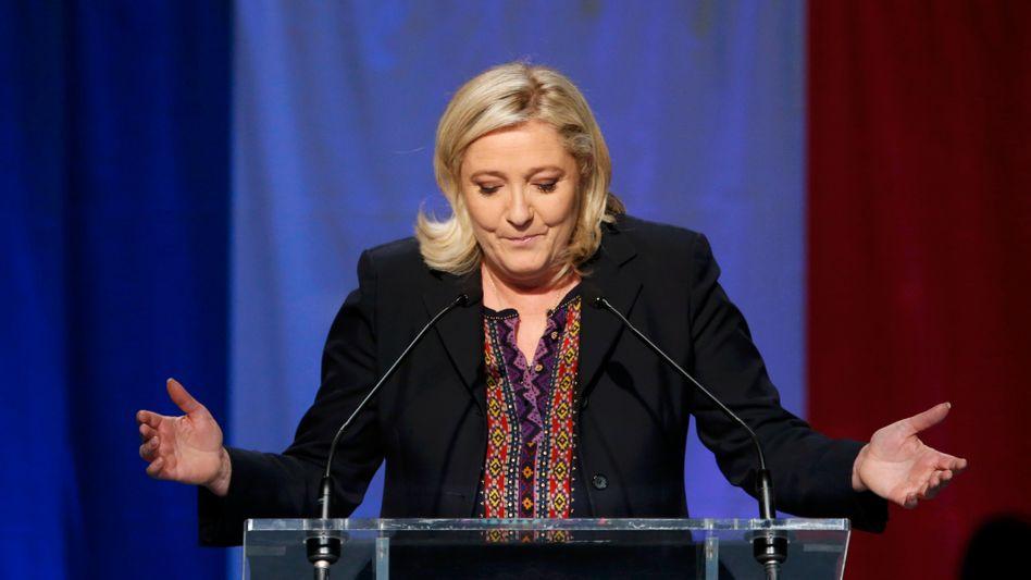 Wahlverlierer: Marine Le Pen und ihre Anti-Europa-Partei Front National
