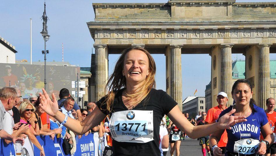 Svetlana Dotsenko beim Berlin-Marathon