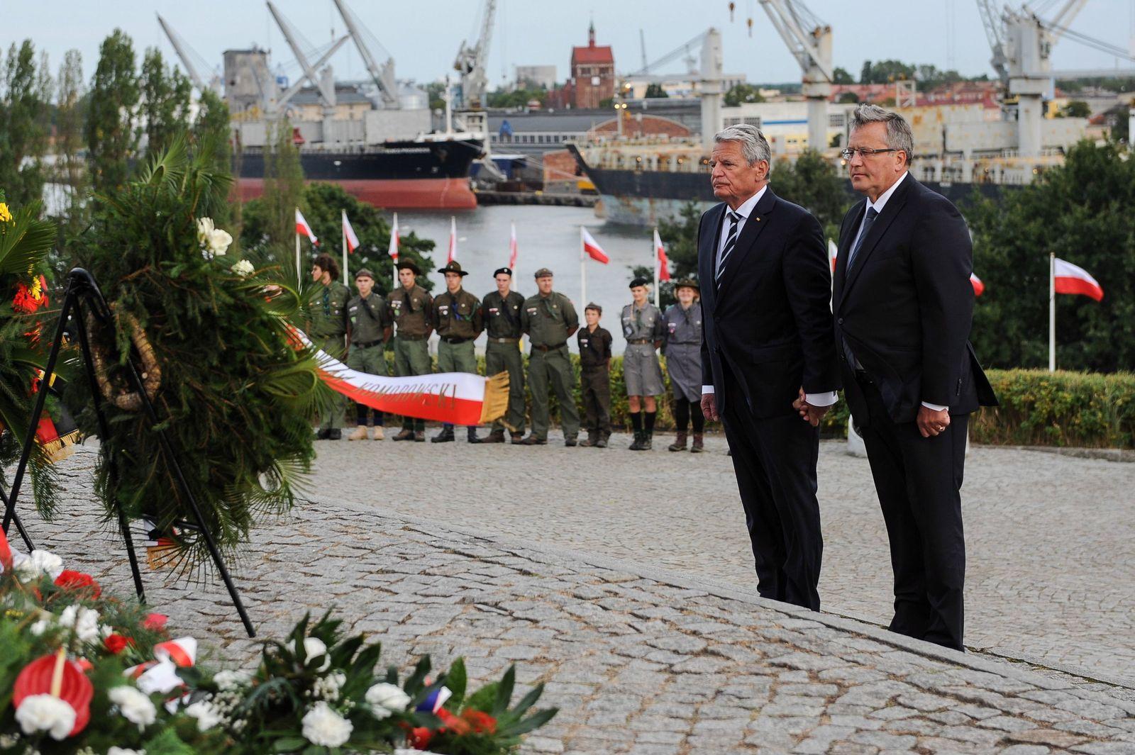 Joachim Gauck / Bronislaw Komorowski / Gedenkfeier Zweiter Weltkrieg