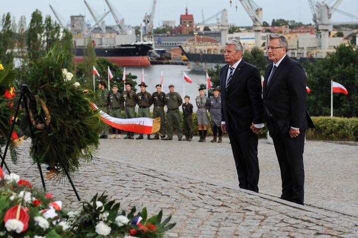 Staatspräsidenten Gauck, Komorowski in Danzig (2014): Gedenken in Polen
