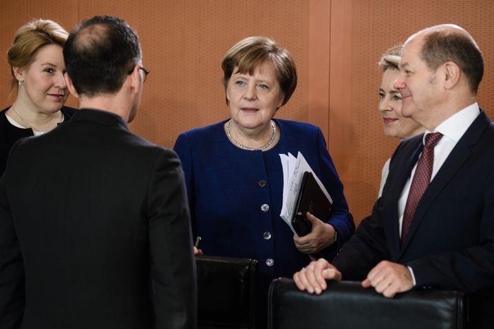 Angela Merkel, Ursula von der Leyen, Olaf Scholz