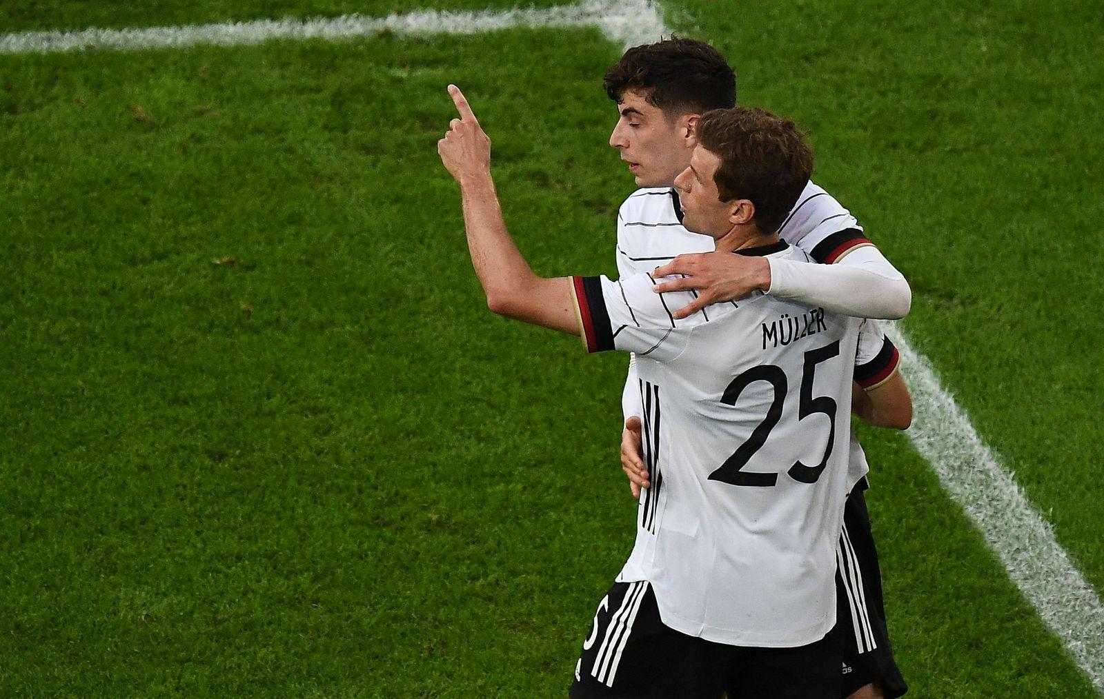 07.06.2021, xjhx, Fussball Freundschaftsspiel, Deutschland DFB - Lettland LFF emspor, v.l. Thomas Mueller Müller (Deutsc