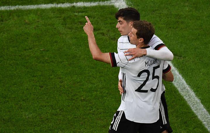 Thomas Müller und Kai Havertz haben gute Chancen auf einen EM-Startplatz gegen Frankreich