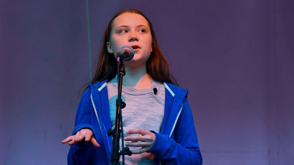 Greta Thunberg spricht in London vor der Extinction-Rebellion-Bewegung