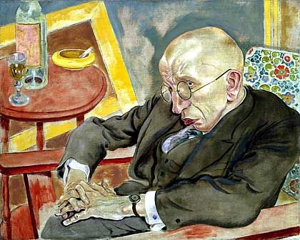 "Grosz's ""Portrait of Max Herrmann-Neisse"""