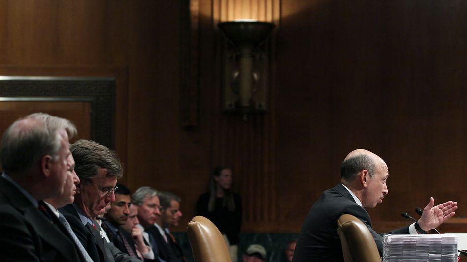 Goldman-Verhör im US-Senat: Senat quält die Wunderjungs der Wall Street