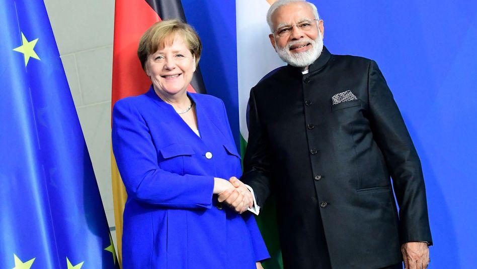 Kanzlerin Merkel mit Indiens Premier Modi in Berlin