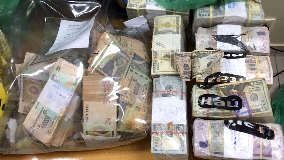 Konfisziertes Geld aus Raubüberfall