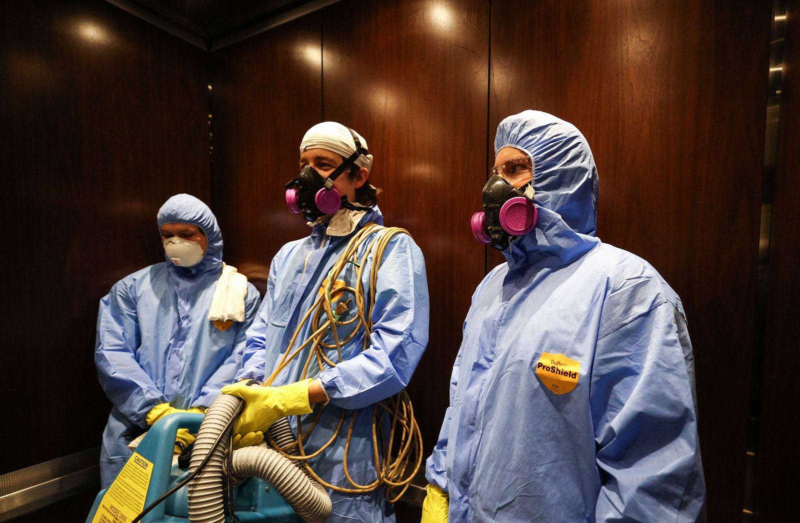 U.S. Businesses Disinfect Properties To Stem Spread Of Coronavirus
