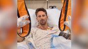 Grosjean meldet sich per Videobotschaft aus dem Krankenhaus