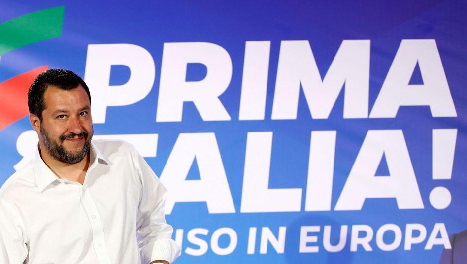 """Lega-Chef Salvini: """"Wir werden ja sehen, wer den größeren Dickkopf hat"""""""