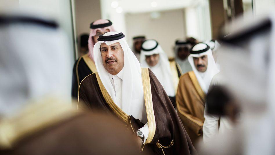 Premierminister Al-Thani 2012: Mit der Deutschen Bank zurück in die Zukunft