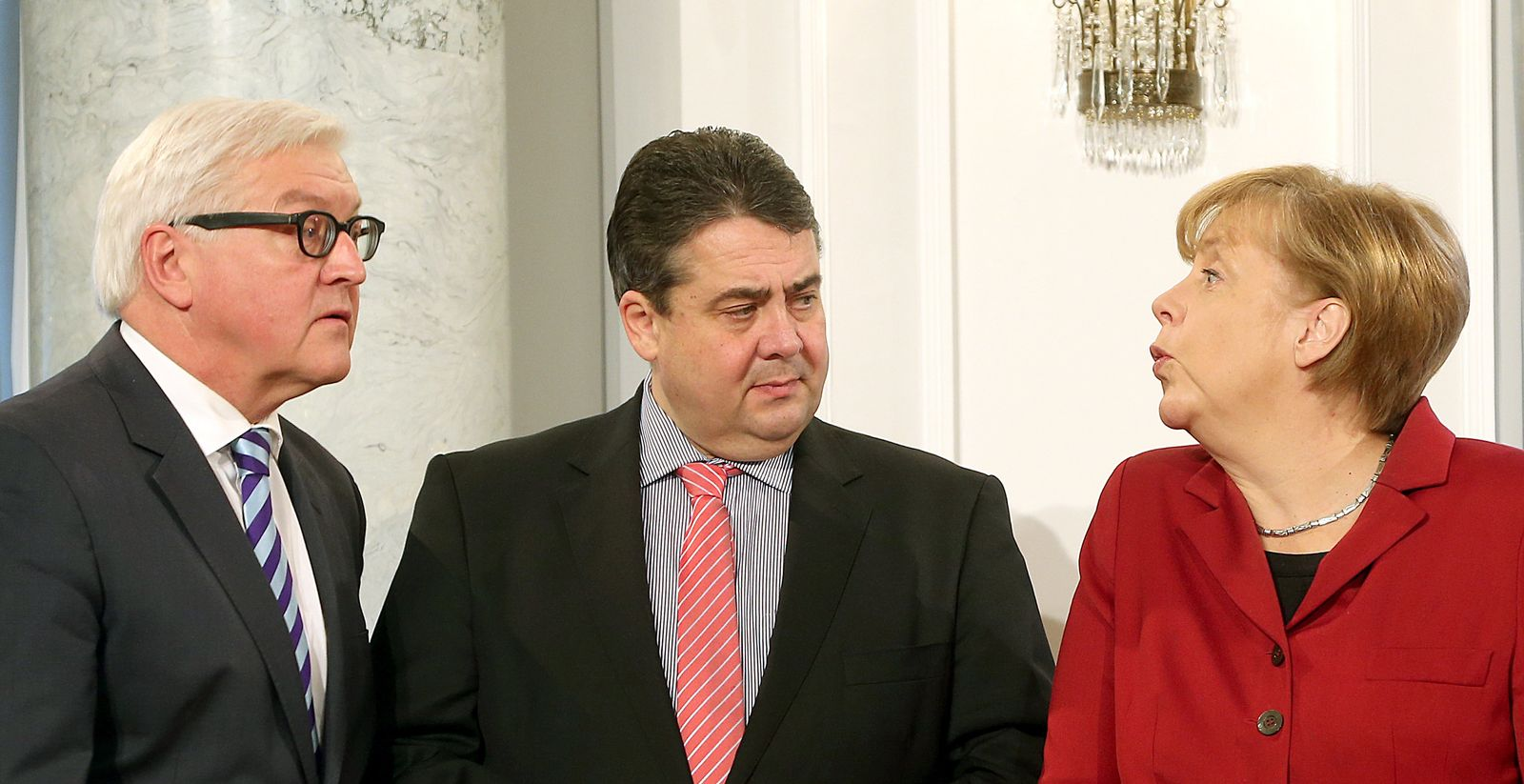 Steinmeier/Gabriel/Merkel