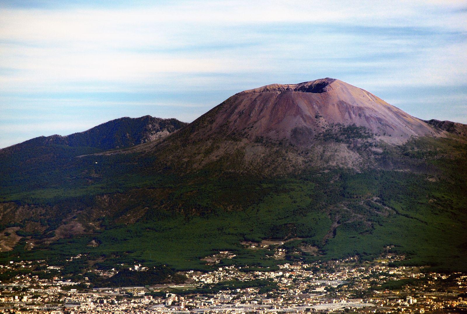 Mt. Vesuvius as seen from Sorrento