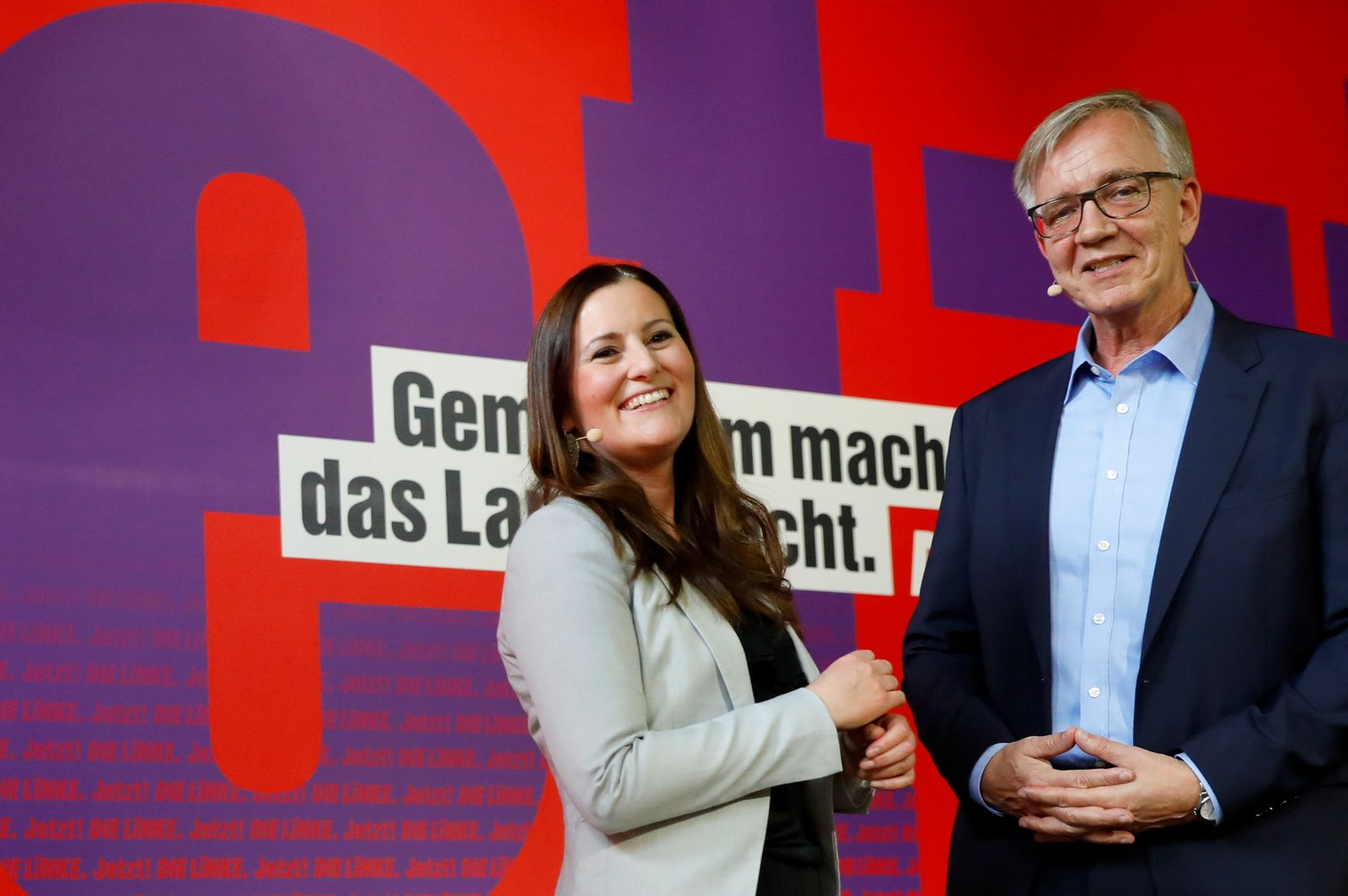 Germany's left wing Die Linke party present their top candidates for federal elections, in Berlin