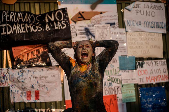 Lima im November 2020: Die Massenproteste in Peru erzwangen einen Wechsel des Regierungschefs