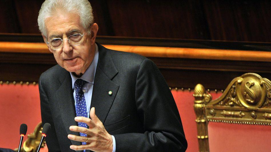 """Montis Antrittsredein Rom: """"Klatschen Sie nicht, hören Sie zu"""""""