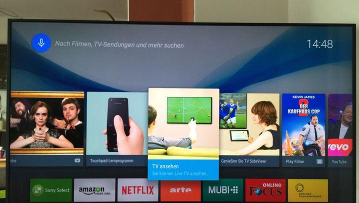 Android im Fernseher: Sony KD-55X8505 im Test