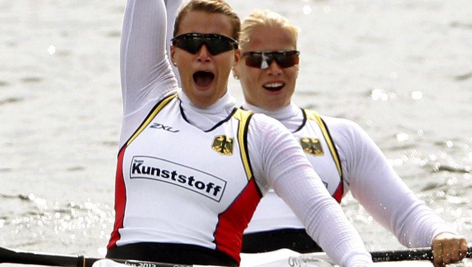 Kanutinnen Weber (l.), Dietze: WM-Sieg im Kanadier