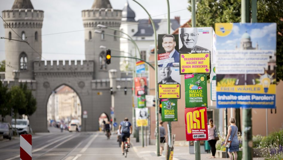 Wahlplakate in Potsdam (Symbolbild)