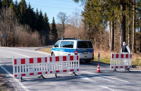 Straßensperre in Deutschland