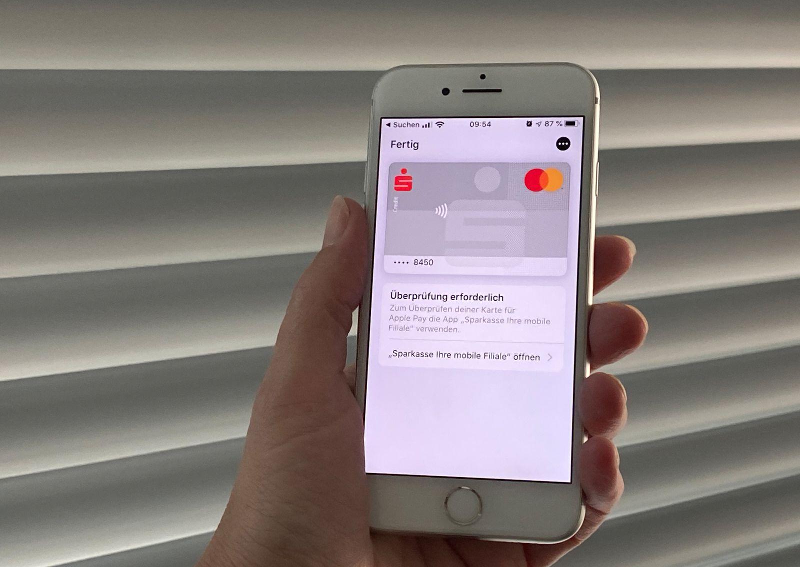 Sparkassen starten Apple Pay